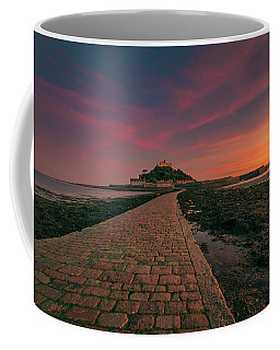 St Michael's Mount Sunset Coffee Mug