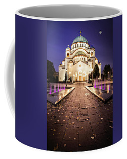 St. Sava Temple In Belgrade Nightscape Coffee Mug
