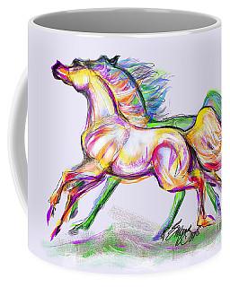 Crayon Bright Horses Coffee Mug