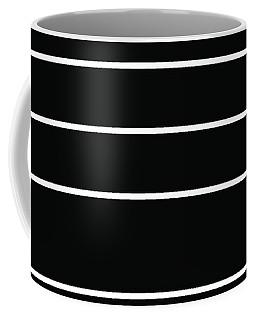Stacked - Black And White Coffee Mug