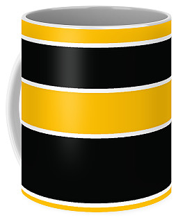 Stacked - Black And Yellow Coffee Mug