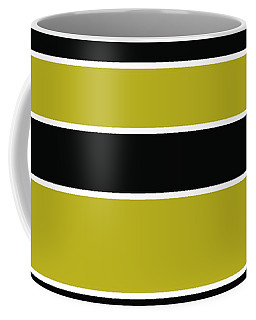Stacked - Gold, Black And White Coffee Mug
