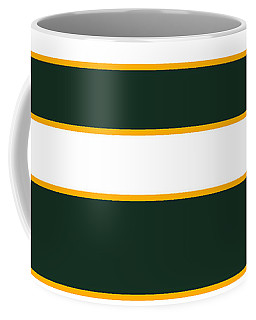 Stacked - Green, White And Yellow Coffee Mug