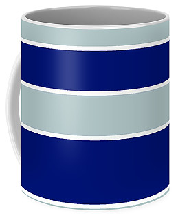 Stacked - Navy, Grey, And White Coffee Mug