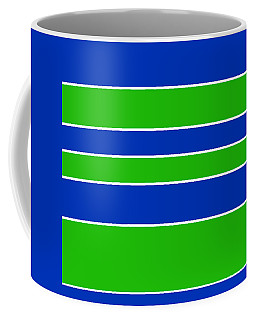 Stacked - Navy, White, And Lime Green Coffee Mug