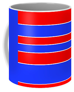 Stacked - Red, White And Blue Coffee Mug