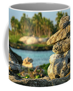 Stacked Rocks On Mexico Beach Coffee Mug