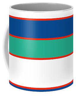Stacked - Sea Foam, Orange, Navy And White Coffee Mug