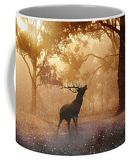 Stag In The Forest Coffee Mug