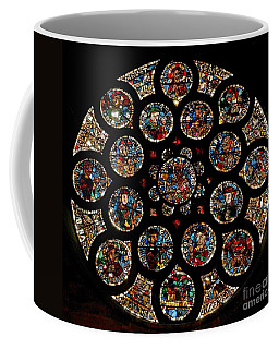 Stained Glass Rose Window Depicting The New Covenant, Circa 1235 Coffee Mug
