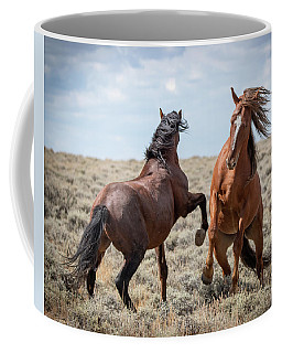 Coffee Mug featuring the photograph Stallion Speak by Mary Hone