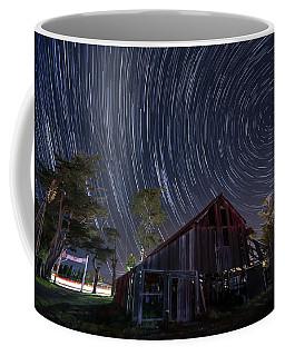 Star Trails Over Bonetti Ranch Coffee Mug