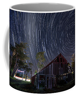 Coffee Mug featuring the photograph Star Trails Over Bonetti Ranch by Mike Long