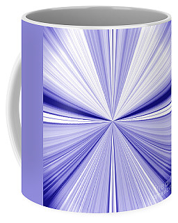 Starburst Light Beams In Blue And White Abstract Design - Plb455 Coffee Mug