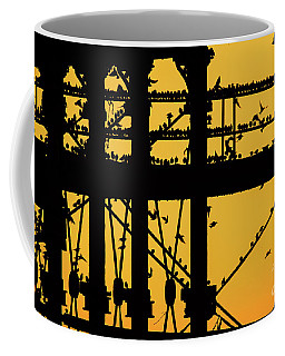 Starlings At Golden Hour On Aberystwyth Pier Coffee Mug