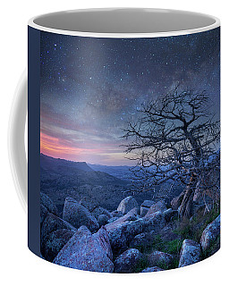Stars Over Pine On Mount Scott, Wichita Coffee Mug