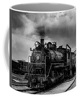 Steam Locomotive In Black And White 1 Coffee Mug