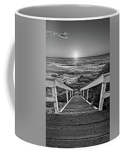 Steps To The Sun  Black And White Coffee Mug