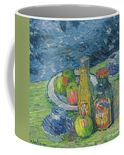 Still Life With Bottles And Fruit, 1900 Coffee Mug