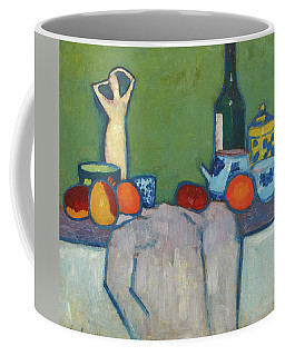 Still-life With Fruit, Figure And Bottle, 1907 Coffee Mug