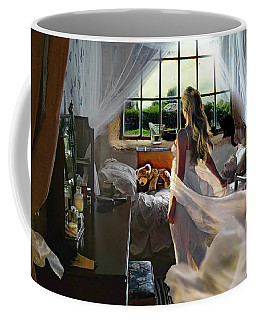 Coffee Mug featuring the photograph Still Twirling In My Room by Alison Frank