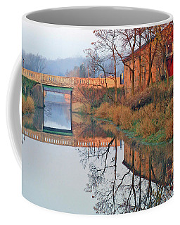 Still Waters On The Canal Coffee Mug