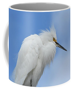 Stoic Snowy Egret Coffee Mug