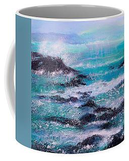 Stormy Sea With Breaking Waves  Coffee Mug
