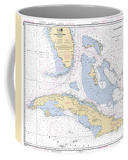 Straits Of Florida Nautical Chart Coffee Mug