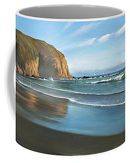 Strands Beach Dana Point Oil Painting Coffee Mug