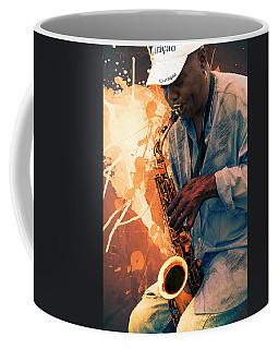 Street Sax Player Coffee Mug