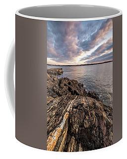 Striations. Leading Lines In The Rocks Coffee Mug