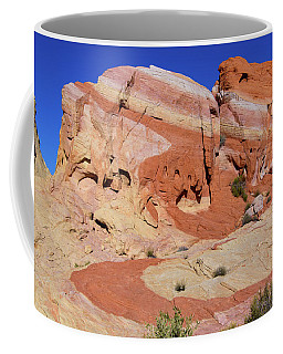Coffee Mug featuring the photograph Striped Rock by Mary Hone