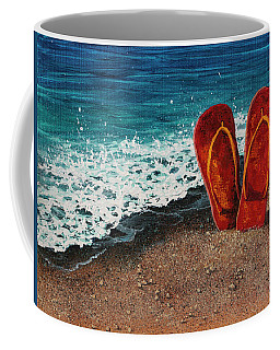 Coffee Mug featuring the painting Stuck In The Sand by Darice Machel McGuire