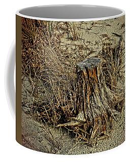 Stump At The Beach Coffee Mug