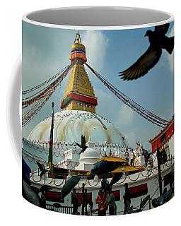 Stupa Bodhnath Kathmandu, Nepal - October 12, 2018 Coffee Mug