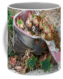 Succulents In A Boot Coffee Mug