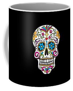 Coffee Mug featuring the digital art Sugar Skull Day Of The Dead by Flippin Sweet Gear