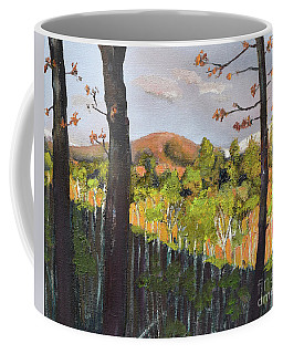 Coffee Mug featuring the painting Summer At Pink  Knob In Ellijay by Jan Dappen