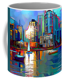 Coffee Mug featuring the digital art Summer In The City by Pennie McCracken