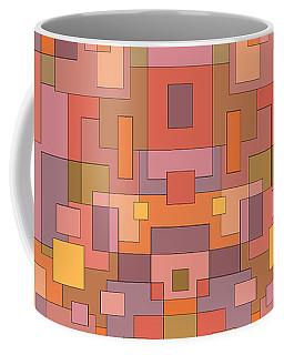 Summer Peach Abstract Coffee Mug