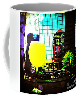 Coffee Mug featuring the mixed media Summertime Downtown Lexington  by Rachel Maynard