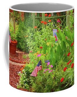 Coffee Mug featuring the photograph Summertime In The Flower Garden by Ola Allen