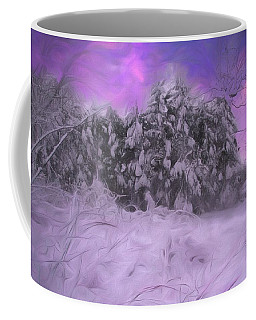 Sun Setting On A Winter Day. Coffee Mug