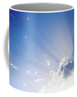 Sunbeams Rising From A Large Cloud In Intense Blue Sky On A Summer Afternoon Coffee Mug