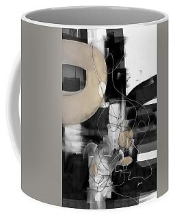 Sunday Morning Large Modern Black And White Abstract Painting Coffee Mug