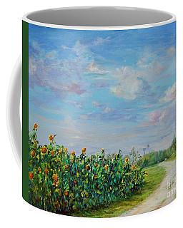 Sunflower Field Ptg Coffee Mug