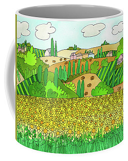 Coffee Mug featuring the painting Sunflower French Countryside by Suzy Mandel-Canter