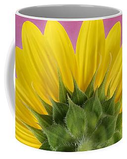 Coffee Mug featuring the photograph Sunflower On Pink - Botanical Art By Debi Dalio by Debi Dalio