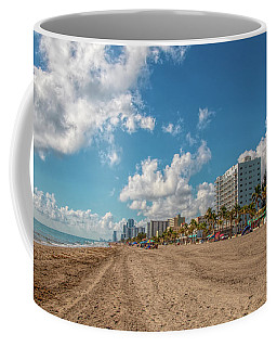 Sunny Day At Hollywood Beach Coffee Mug